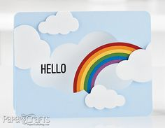 LOVE how the rainbow goes into the cloud cut-out. Such a cut idea