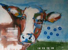 """Neues Werk aus der Serie """"Kühe codiert"""": Kuh 1 X"""