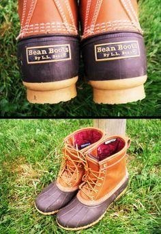 Bean Boots <3   (http://www.llbean.com/llb/shop/35487?feat=bean boot-SR1=men-s-l-l-bean-boots-8-gore-tex-thinsulate_0=Tan/Brown=516649)  (http://www.llbean.com/llb/shop/35477?feat=bean boot-SR0=women-s-l-l-bean-boots-8)