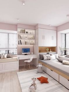 Small Room Design Bedroom, Small Bedroom Interior, Small House Interior Design, Bedroom Furniture Design, Girl Bedroom Designs, Home Room Design, Kids Bedroom, Furniture For Small Bedrooms, Bedroom Ideas For Small Rooms