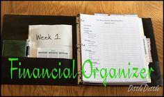 financially organized notebook {Dave Ramsey inspired}