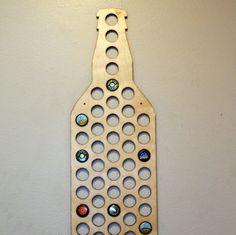 Louisiana Beer Bottle Cap Holder Birch Wood Wall Art Craft Beer Man Cave LA Map