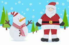 Papai Noel Articulado Para Imprimir - Blog Cantinho Alternativo