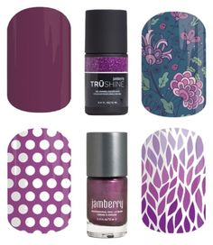 """""""Jamberry Nails - Colors - Purple"""" by kspantonjamon on Polyvore featuring beauty"""
