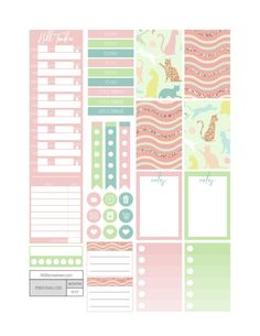 Playful Cats Planner Stickers - Fit Life Creative