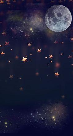 Moon & falling stars wallpaper iphone cute, i wallpaper, cute wallpaper Star Wallpaper, Galaxy Wallpaper, Screen Wallpaper, Cool Wallpaper, Moon And Stars Wallpaper, Cute Wallpaper Backgrounds, Wallpaper Iphone Cute, Nature Wallpaper, Cute Wallpapers