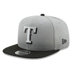 ca461749198ab Texas Rangers New Era Flow Team 9FIFTY Adjustable Snapback Hat - Gray Black