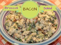 Broccoli, Cauliflower, and BACON Salad! Perfect side for Thanksgiving, Picnics, and more! SO quick & easy too!