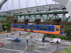 The Wuppertal Suspension Railway is a suspension railway in Wuppertal, Germany. Description from imgfeatures.com. I searched for this on bing.com/images