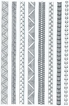 Learning some border techniques Doodle Art Drawing, Zentangle Drawings, Mandala Drawing, Art Drawings, Zentangles, Doodle Art Designs, Doodle Patterns, Zentangle Patterns, Geometric Patterns