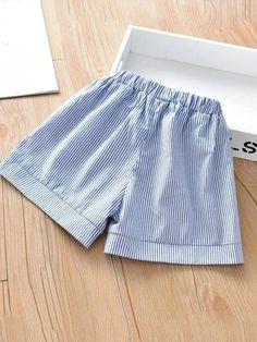 Toddler Girls Slant Pocket Striped Wide Leg Shorts – Kidenhouse