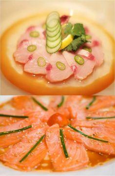 New Style Salmon Sashimi & Yellowtail Sashimi with Jalepeno....