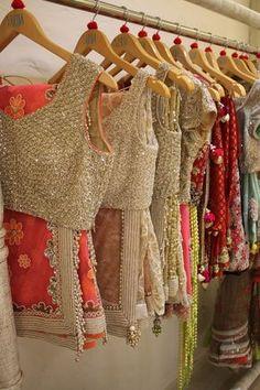 Beautiful Embellished, Embroidered #Sarees ~ Cholis by @VarijaBajaj Studio http://lotusse.biz/home.html E-4, Def Col, Ring Rd, Delhi