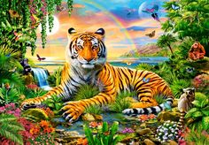 Puzzle King of the Jungle Castorland-103300 1000 pièces Puzzles - Animaux sauvages - Planet'Puzzles
