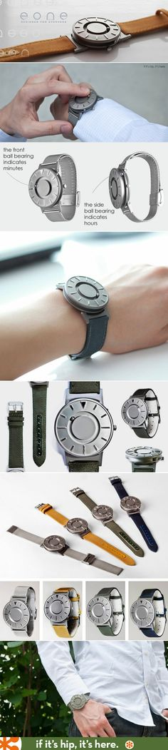 The Bradley Timepiece is a watch that allows you to tell the time by touch.