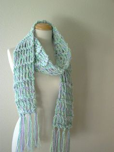 purple and mint scarf