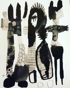 watercolor ink drawing by Emma Larsson @zebrakadebra