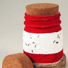 Replace mason jar lids with this unique, decorative cork insert.