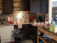 DURING; day three losing the clutter! #kitchncure