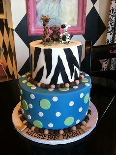 Zoo animal baby shower cake by Designer Cakes By April, via Flickr
