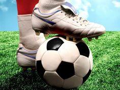 Antiguo balón de fútbol