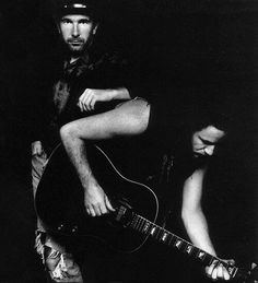 The Edge & Bono...looks like from Rattle & Hum