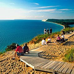 Sleeping Bear Dunes Michigan.  One of the best national parks for families