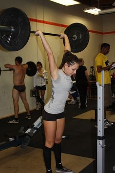 Crossfit.  Please look at the guy in the background!  Haha!