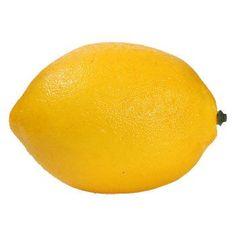 Decorative Yellow Plastic Lemon, 4 in.