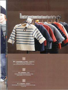 Phildar baby - charlot ! - Picasa Albums Web                              … Free Knitting, Baby Knitting, Knitting Patterns, Pull Bebe, Baby Jumper, Knitting Magazine, Craft Sale, Handmade Design, Crochet For Kids