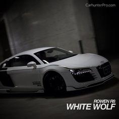 White Wolf Audi R8 - tuned by Rowen of Japan http://www.carhunterpro.com/photo/ErC3NcZeKb