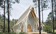 University of North Florida has opened a competition for their Interfaith Chapel.  Although this is supposed to be open to several religions, it has a very strong Gothic cathedral feel.  I love it.