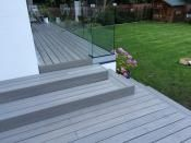 Smoothing the transition from indoor to outdoor space using glass balustrade and composite decking systems can transform your home. Backyard Garden Design, Small Garden Design, Backyard Landscaping, Backyard Seating, Terrace Garden, Landscaping Ideas, Deck Steps, Garden Steps, Garden Fencing