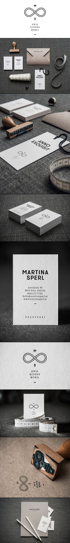 Branding just has to be creative. Martina Sperl Branding by moodley brand identity via Behance. Logo Design, Brand Identity Design, Graphic Design Branding, Logo Branding, Typography Design, Lettering, Brochure Design, Corporate Design, Corporate Identity
