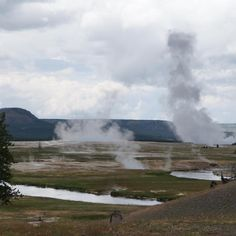 I loved this valley of steaming hot death at Yellowstone National Park. We were driving from one hot pool spot to another when we passed this awesome valley. You can easily see the energy and power lying beneath the earth at Yellowstone. It is truly an awe inspiring place.