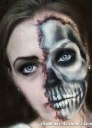 Image result for partial skeleton make up