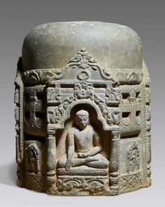 A stone stupa drum Northeastern India, Pala period, 11th/12th century  .#ombeachemporium loves this #karmastrings