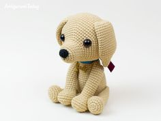 Lucky Puppy amigurumi pattern by Amigurumi Today This cute lucky puppy amigurumi is just 15 cm tall. It's a perfect gift for dog lovers. The difficulty range of the Lucky Puppy Amigurumi Pattern is medium. Mini Amigurumi, Amigurumi Doll, Crochet Dog Patterns, Amigurumi Patterns, Amigurumi Tutorial, Lucky Puppy, Baby Pug Dog, Stuffed Animal Patterns, Crochet Animals