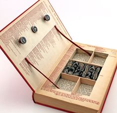 "Vintage Book Jewelry Box. Unique, Recycled. ""a Handbook To Literature."" Wooden…"