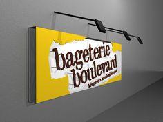 vizualizacia exterierovej reklamy bageteria Boulevard Praha