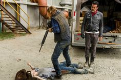 "Dwight, Carl & Negan | ""Sing Me A Song"" S7E7 | The Walking Dead (AMC)"