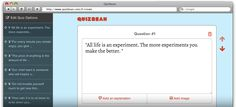 A quiz creator to quickly assess your students.