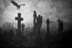 Find images and videos about black and white, dark and angel on We Heart It - the app to get lost in what you love. Dark Fantasy Art, Dark Art, Old Cemeteries, Graveyards, Rabe, Angel Statues, Arte Horror, Dark Places, Gothic Art