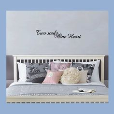 Two Souls One Heart, Wall Quote, Wall Sticker, Phrase, Life and Love, Any Colour. Unknown http://www.amazon.co.uk/dp/B006JDD2Q6/ref=cm_sw_r_pi_dp_xr5sub06JH6PB