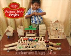 Welcome to Teawe's Blog: DIY Craft Popsicle Project Popsicle Stick Crafts For Kids, Popsicle Sticks, Craft Stick Crafts, Kids Crafts, Diy And Crafts, Arts And Crafts, Spring Crafts, Popsicles, Projects For Kids