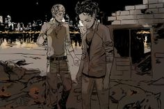 Spoilerart COHF, Maia and Jordan survey the aftermath (but is it the aftermath of the final battle or one taking place earlier)