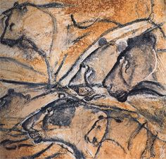 """ancientart: """" Prehistoric cave paintings form the Chauvet Cave in Southern France. Discovered in the Chauvet Cave is significant for its almost completely intact cave drawings that appear on its walls. Through carbon-dating, it was discovered. Lascaux Cave Paintings, Chauvet Cave, Old Paintings, Ancient History, Art History, Paleolithic Art, Cave Drawings, Art Antique, Ancient Artifacts"""