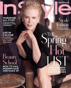 Nicole Kidman by Will Davidson for InStyle Australia September 2017 Cover