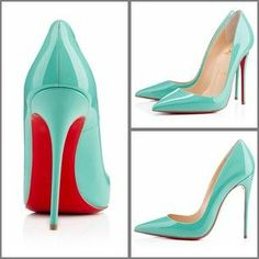 Louboutin Neofilo in Aquamarine patent leather Christian Louboutin Sandals, Beautiful Shoes, Patent Leather, Pairs, Style Inspiration, My Style, Heels, Womens Fashion, How To Wear