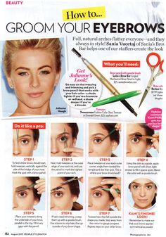 How to eyebrow-scape
